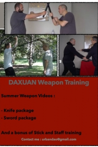 Da Xuan Weapons Training - Knife, sword stick and staff